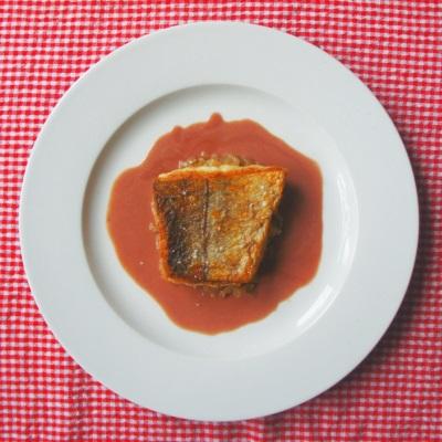 Kulmule med skalotteløg og rødvinssauce